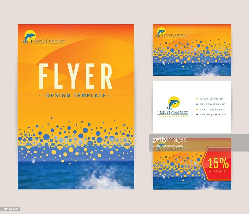 Corporate identity set for travel company.