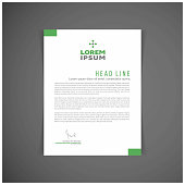 Corporate identity set or kit for your business. Letter templates. Vector format, editable, place for text