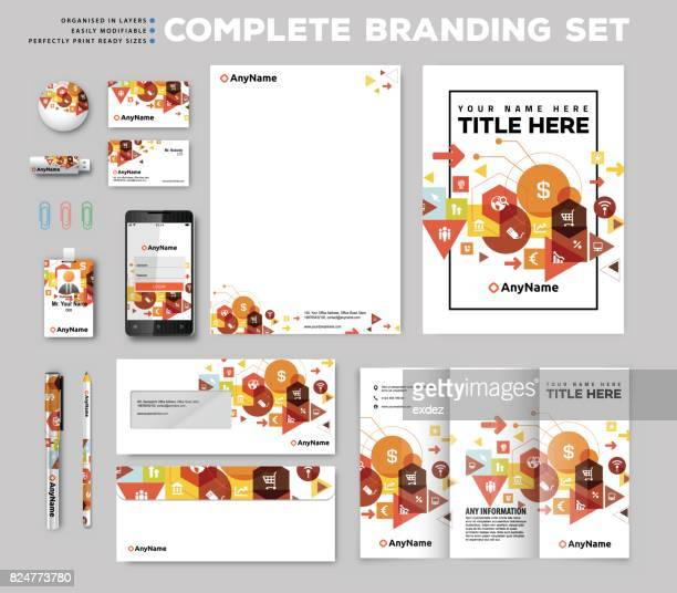 corporate identity stationary items - stationary stock illustrations