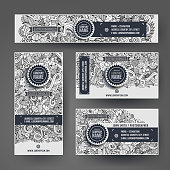 Corporate Identity templates doodles easter theme