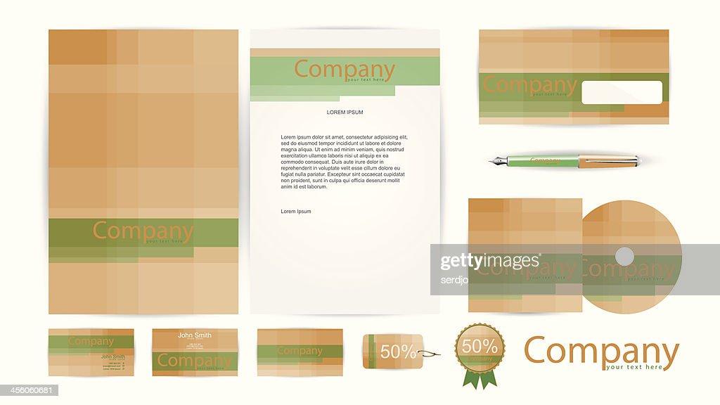 Corporate Identity Templates in Vector