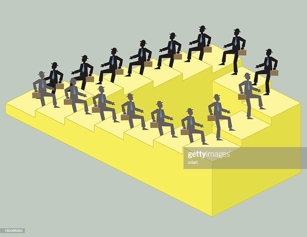 Corporate Illusion : stock illustration