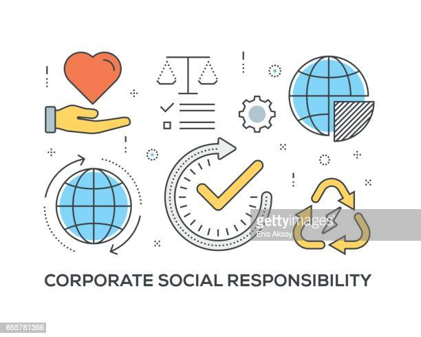 Corporate Social Responsibility Concept with icons