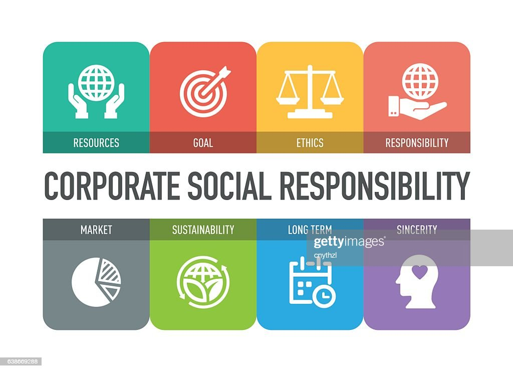 Corporate Social Responsibility Icon Set