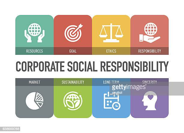 corporate social responsibility icon set - equal opportunity stock illustrations, clip art, cartoons, & icons