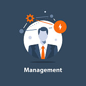 Corporate solution concept, business management, successful strategy, career opportunity, project manager, company ceo