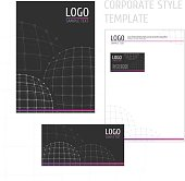 Corporate style template grid circle