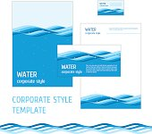 Corporate style template water