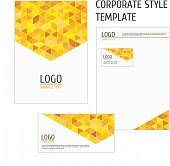 Corporate style template yellow triangles