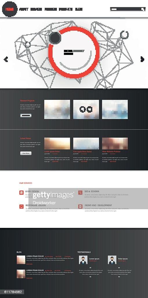Corporate Website Template Vector