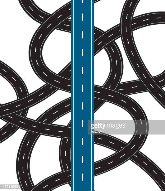 Correct way in confused road
