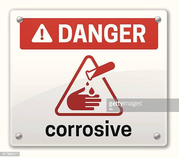 corrosive - corrosive sign stock illustrations, clip art, cartoons, & icons