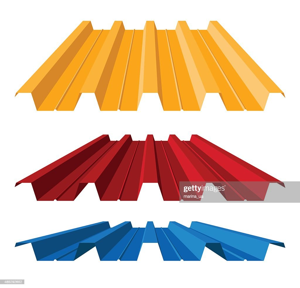 Corrugated metal roof, vector illustration