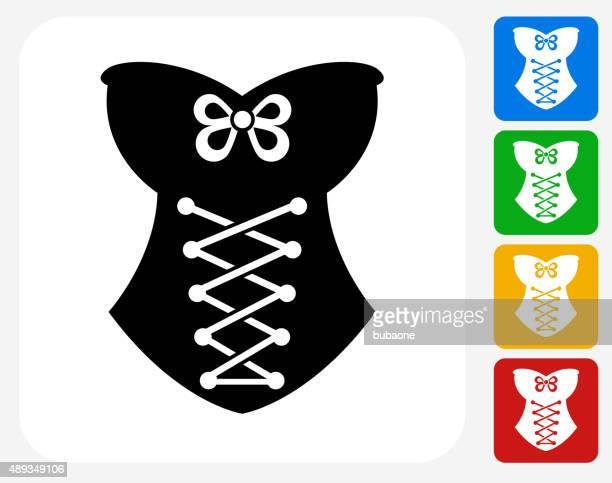 Corset Icon Flat Graphic Design