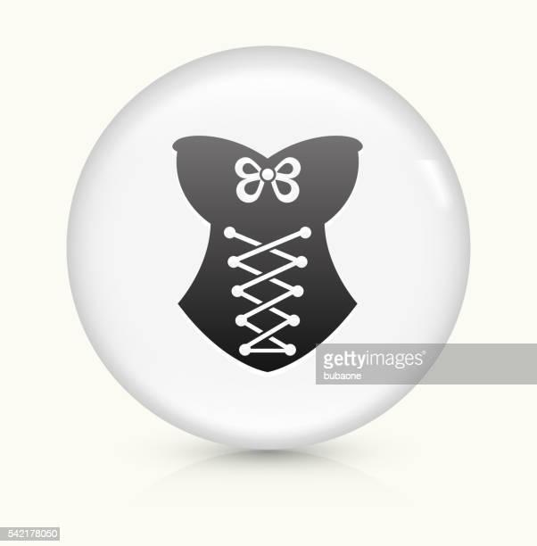 Corset icon on white round vector button