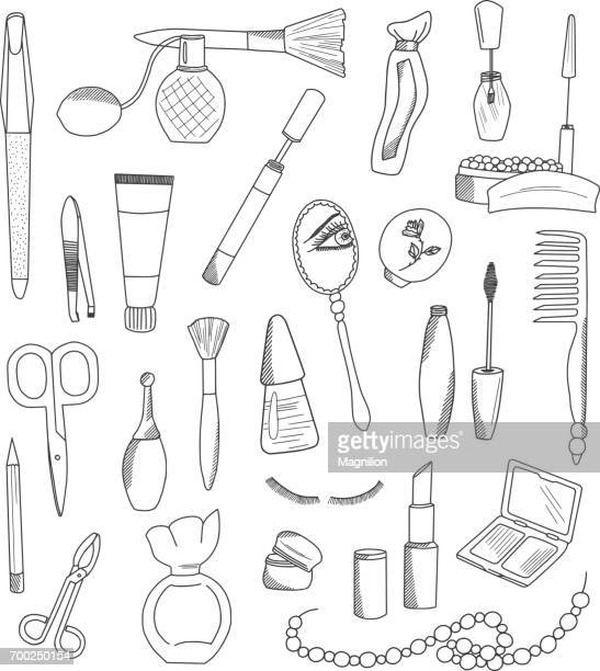 Cosmetic Accessories Doodles Set