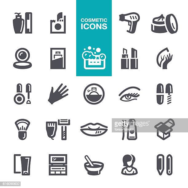 cosmetic icons - lip gloss stock illustrations, clip art, cartoons, & icons