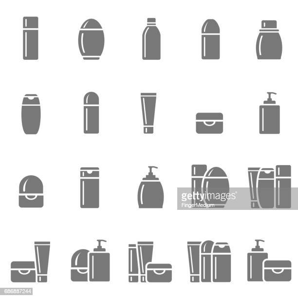 cosmetic icons - packaging stock illustrations, clip art, cartoons, & icons