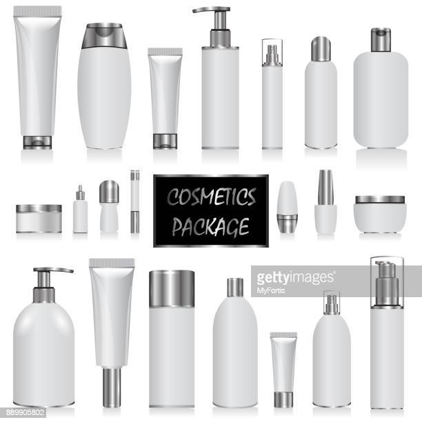 cosmetic package the silver - packaging stock illustrations
