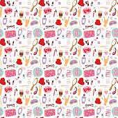 Cosmetic pattern vector.