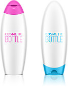 Cosmetic shampoo or shower gel bottle template