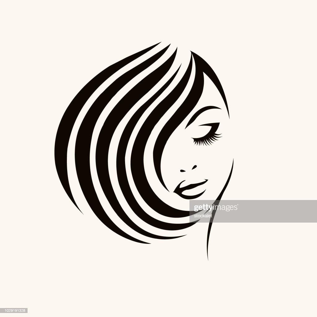 Cosmetics, beauty and hair salon vector icon