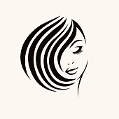 Cosmetics, beauty and hair salon vector icon