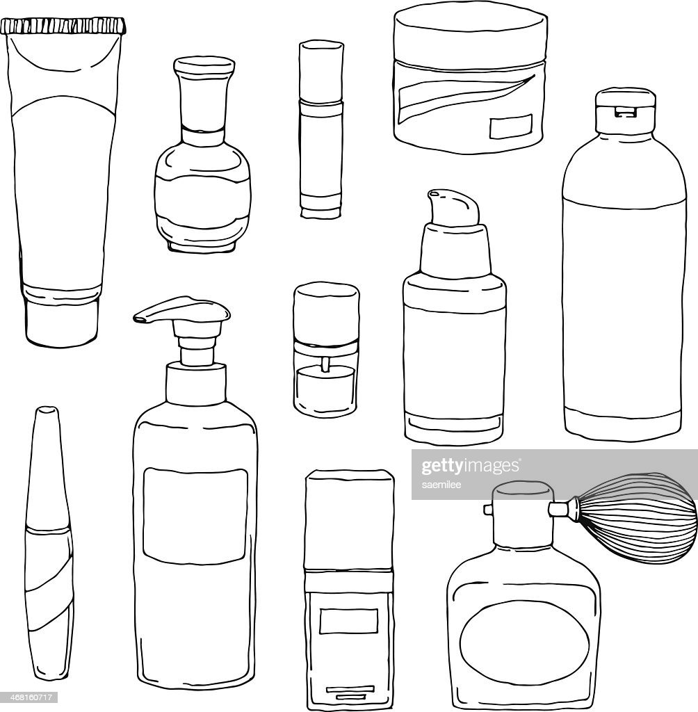 Kosmetik Flasche Set : Stock-Illustration