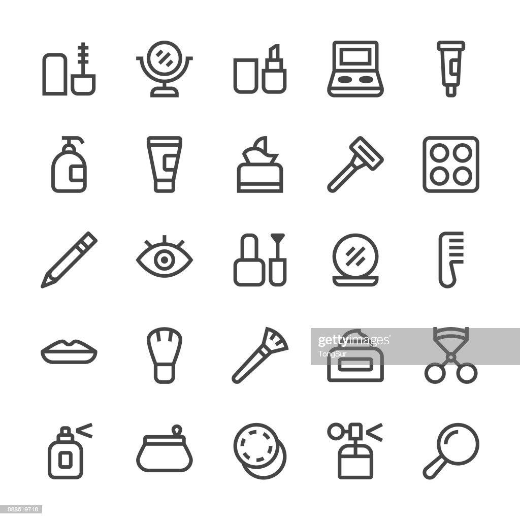 Kosmetik-Icons - MediumX Linie : Stock-Illustration
