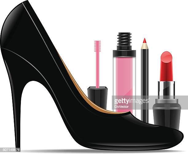 Conjunto de produtos cosméticos para mulher de Sapato