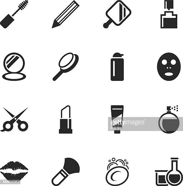 Cosmetics Silhouette Icons