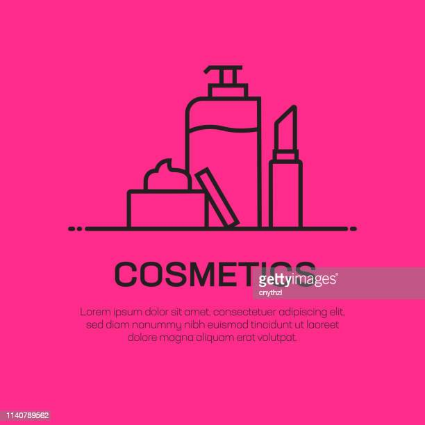 cosmetics vector line icon - simple thin line icon, premium quality design element - make up stock illustrations