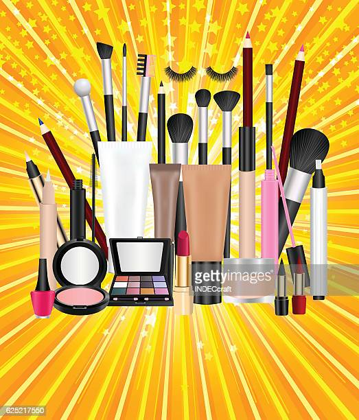 cosmetics with abstract backgruond - lip liner stock illustrations, clip art, cartoons, & icons