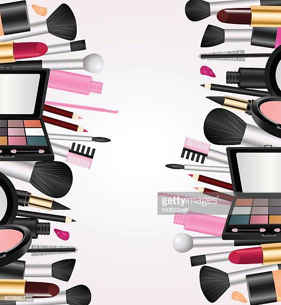 cosmetics with text space - lip liner stock illustrations, clip art, cartoons, & icons