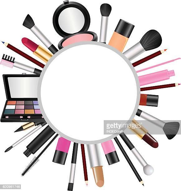 ilustraciones, imágenes clip art, dibujos animados e iconos de stock de cosmetics with text space - maquillaje para ojos