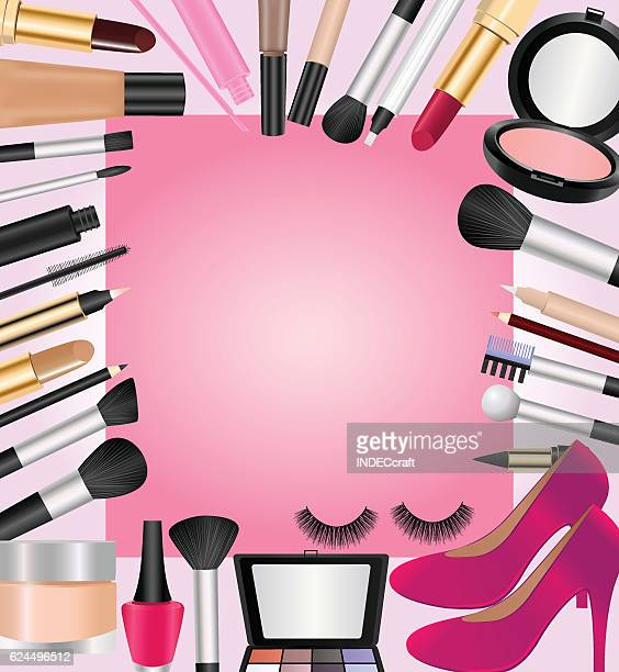cosmetics with text space - lip gloss stock illustrations, clip art, cartoons, & icons