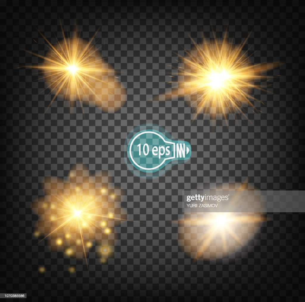 Cosmic glow, Christmas star. In distant space. Concept design for star nebulae isolated on a transparent background. Illustration of a vektor .