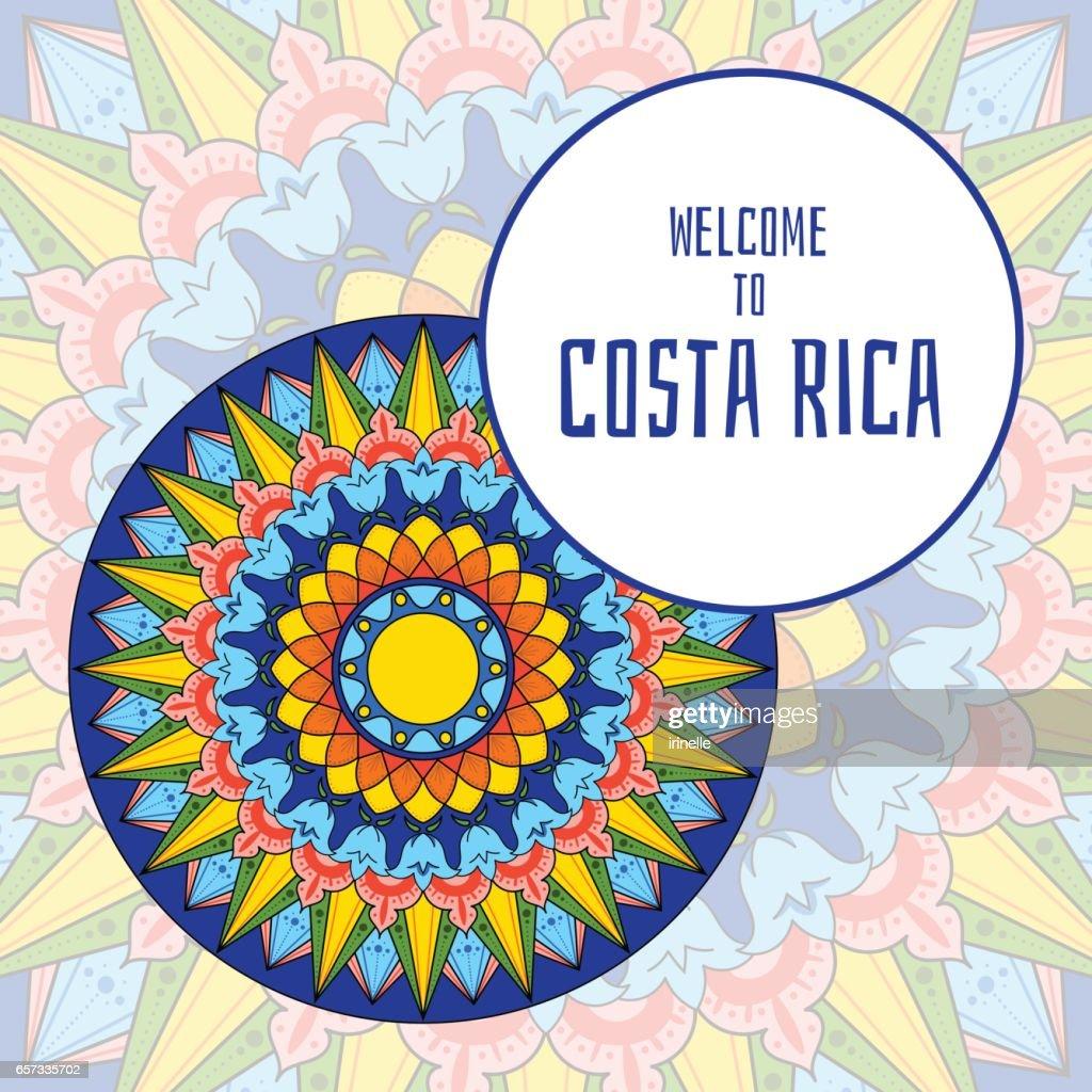Costa Rica illustration vector