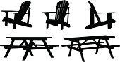 Cottage Furniture Silhouettes