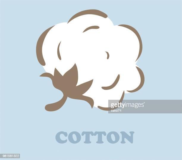 cotton vector illustration - cotton stock illustrations, clip art, cartoons, & icons