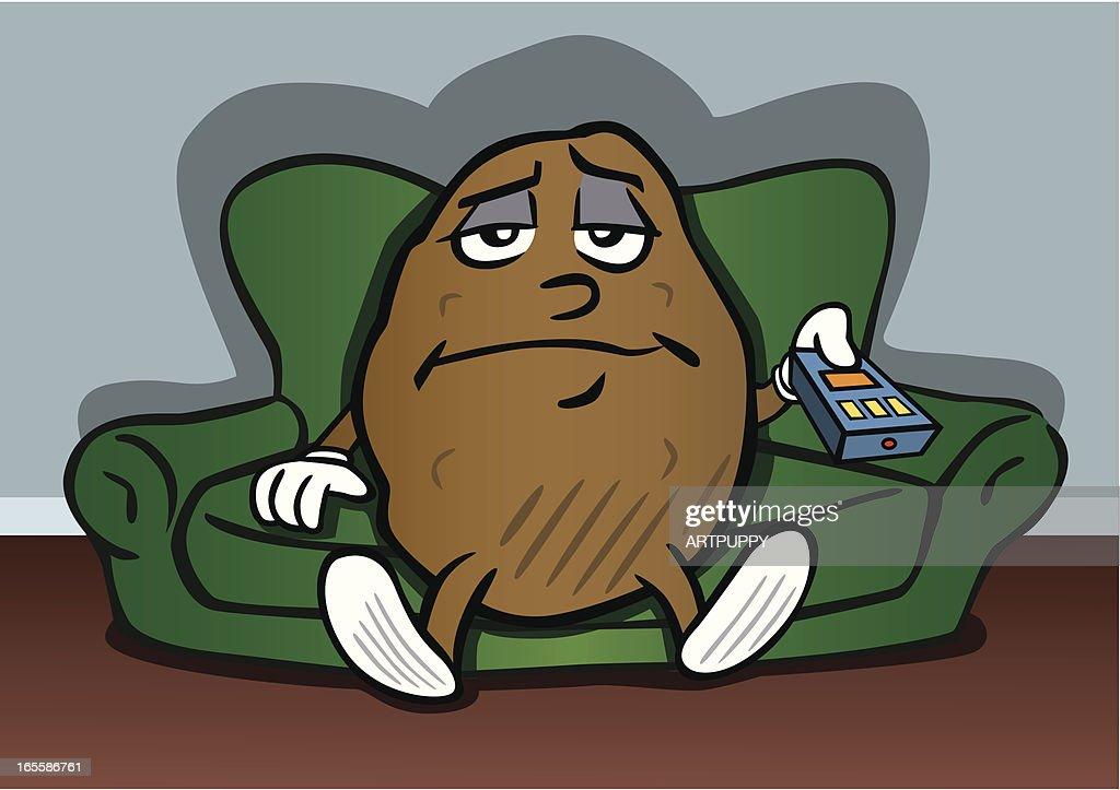 Couch Potato : stock illustration