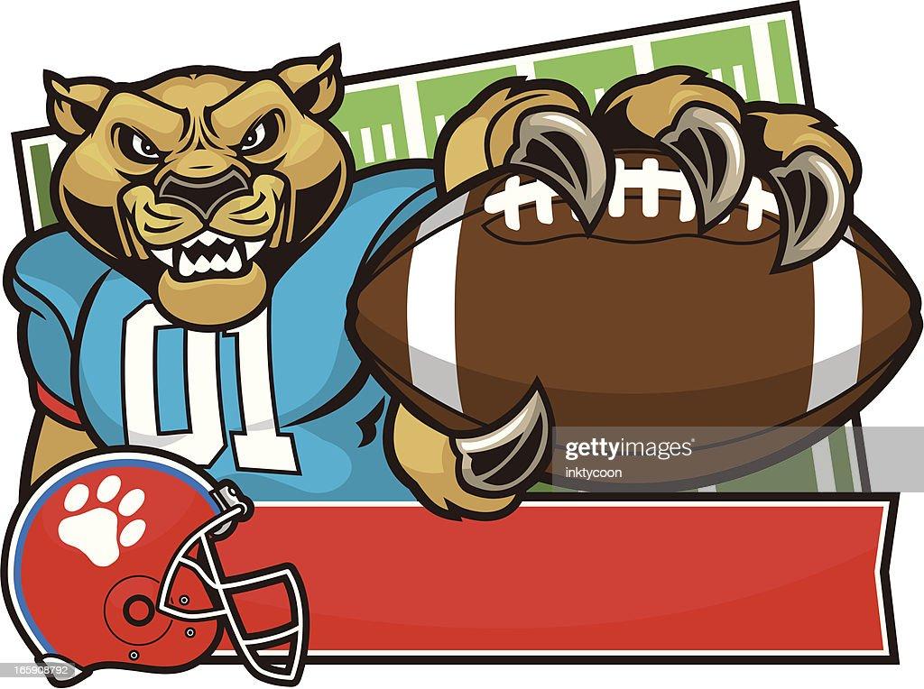 Cougar Mascot Football