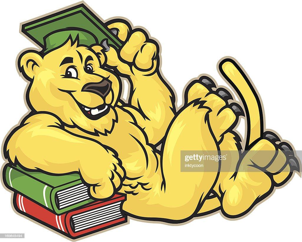 Cougar Mascot Graduate