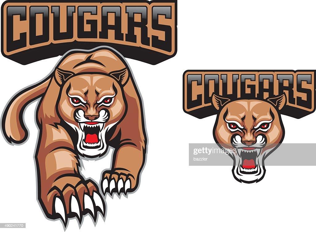 cougars mascot set