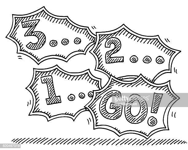 Countdown 3-2-1-Go! Speech Bubble Drawing