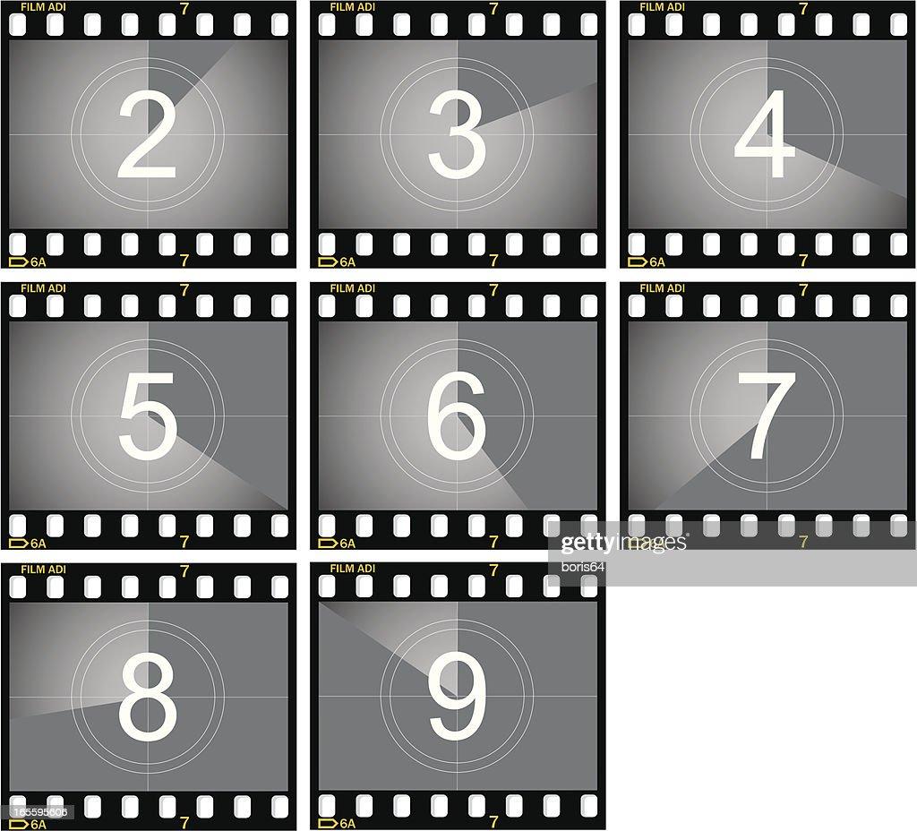 Countdown Film Frames