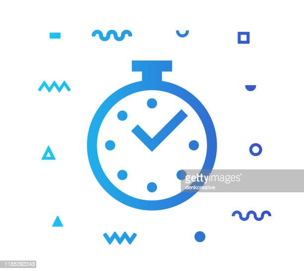 countdown line style icon design - safety equipment stock illustrations, clip art, cartoons, & icons