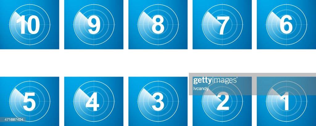 Countdown : Stock Illustration