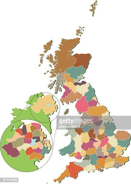 UK Counties map