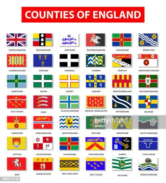 イングランド旗コレクションの郡 - イーストサセックス点のイラスト素材/クリップアート素材/マンガ素材/アイコン素材